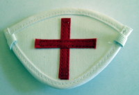 white with cross