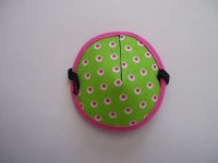 Lime with Pink Dots
